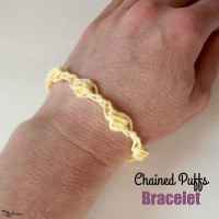 Chained Puffs Bracelet by CrochetNCrafts