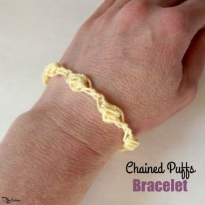 Chained Puffs Bracelet by CrochetN'Crafts