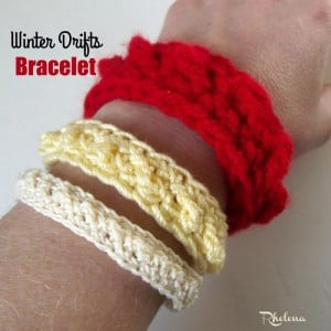 Winter Drifts Bracelet by CrochetN'Crafts