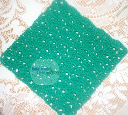 Kelly Green Dishcloth by Home Made Hats by Cheryl