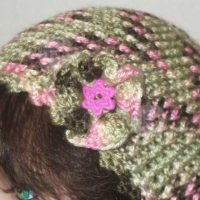 Ruffled Flower Embellishment by Home Made Hats by Cheryl