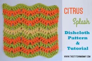 Citrus Splash Dishcloth by The Stichin' Mommy