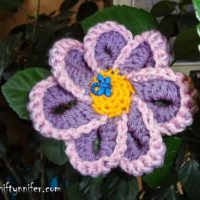 Funky Flower Motif by Niftynnifer's Crochet & Crafts