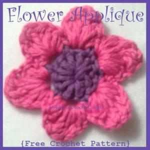 Flower Applique by Oui Crochet