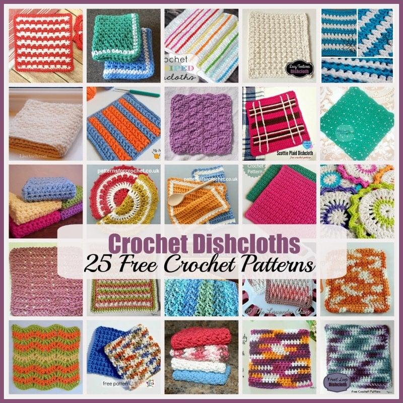 Crochet Dishcloths 25 Free Crochet Patterns Rhelenas Crochet Blog
