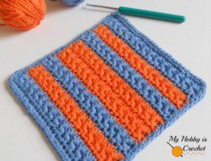 Star Stitch Dishcloth by My Hobby is Crochet