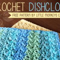 Crochet Dishcloth by Little Monkeys Crochet
