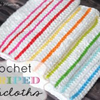 Striped Dishcloths by The Stitchin' Mommy