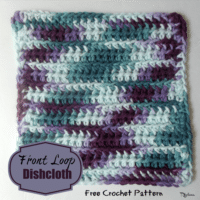 Front Loops Dishcloth by CrochetNCrafts