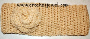 Headband with Flower by Crochet Jewel