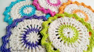 Lotus Bloom Dishcloth by Fiber Flux
