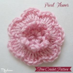 Picot Flower by CrochetN'Crafts