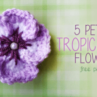 5 Petal Tropical Flower by Little Monkeys Crochet