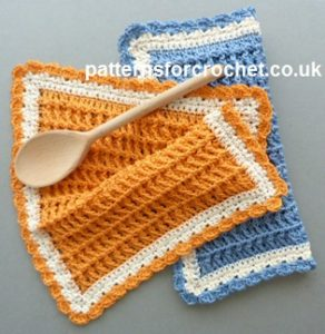 Cotton Dishcloth by Patterns For Crochet