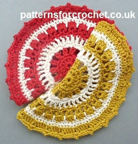 Round Dishcloth by Patterns For Crochet