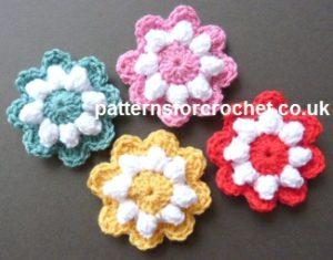 Popcorn Flower Motif by Patterns For Crochet