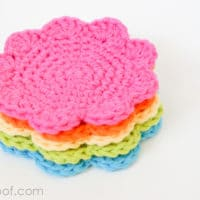Flower Coasters by One Dog Woof