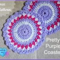 Pretty Crochet Coaster by Crochet For You