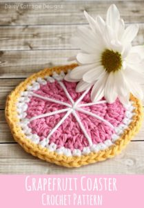 Grapefruit Coaster by Daisy Cottage Designs