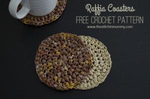 Raffia Coasters by The Stitchin' Mommy