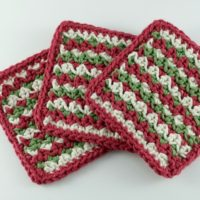 Simple Striped Coasters by Oombawka Design