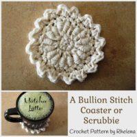 A Bullion Stitch Coaster by CrochetN'Crafts