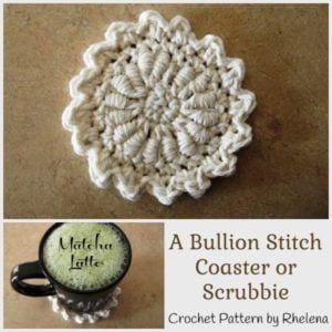 A Bullion Stitch Coaster by CrochetN'Crafts