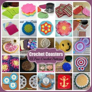 Crochet Coasters ~ 25 FREE Crochet Patterns