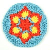 Blooming Flower Coaster by Crochet Spot