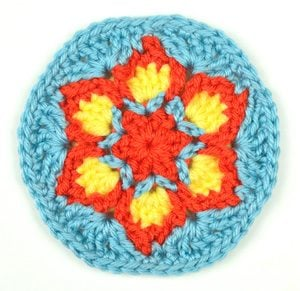 Blooming Flower Coaster by Crochet Spot
