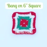 """Bang on 6"""" Square by American Crochet"""