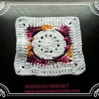Batik Flower Granny Square by American Crochet