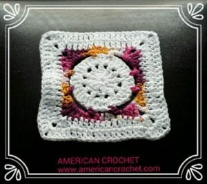 Batik Flower Granny Square by American Crochet