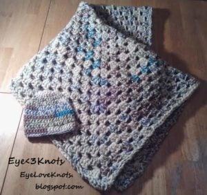 Summery Granny Square Baby Blanket by EyeLoveKnots