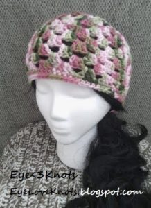 Crochet Adult Granny Square Beanie by EyeLoveKNots