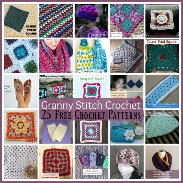 Granny Stitch Crochet ~ 25 FREE Crochet Patterns