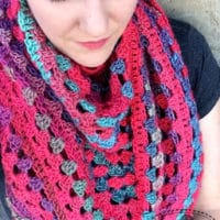 Granny Stitch Triangle Scarf by String With Style
