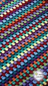 Lily's Garden Granny Striped Afghan by Simply Collectible
