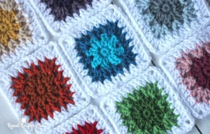 V-Stitch Flower Granny Squares by Repeat Crafter Me