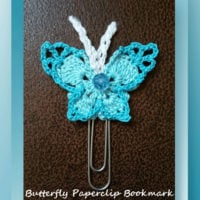 Butterfly Paperclip Bookmark by Crochet Memories