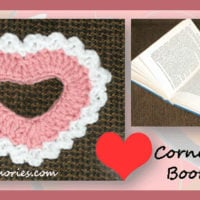 Corner Heart Bookmark by Crochet Memories