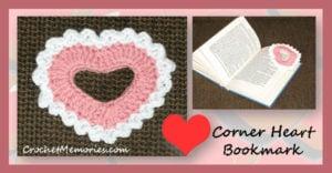 Corner Heart Bookmark by Crochet Memories