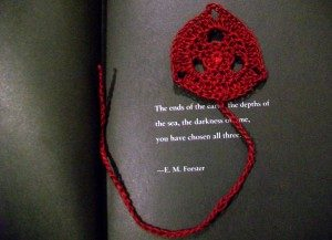 Tripoint Bookmark by Candace for Crochet Spot
