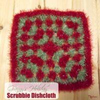 Granny's Holiday Scrubby Dishcloth by CrochetN'Crafts