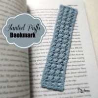 Slanted Puffs Bookmark by CrochetN'Crafts