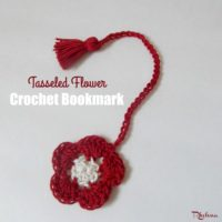 Tasseled Flower Bookmark by CrochetN'Crafts
