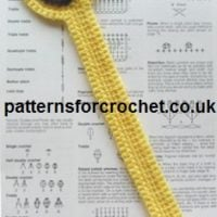 Smiling Bookmark by Patterns For Crochet