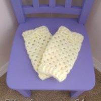 Granny Stitch Baby Legwarmers by The Lavender Chair