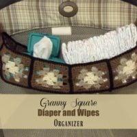 Granny Square Diaper and Wipes Organizer ~ FREE Crochet Pattern