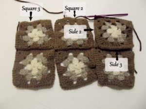 Granny Square Diaper and Wipes Organizer ~ Tutorial 5